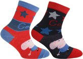 Peppa Pig Official Childrens/Kids Ankle Socks (2 Pairs)