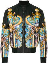 Versace Triptych print bomber jacket
