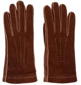 Loro Piana Leather-Trimmed Suede Gloves w/ Tags