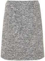 Mint Velvet Textured Zip Detail Skirt, Light Grey