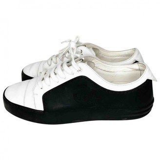 Chanel White Rubber Trainers