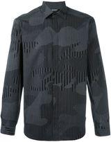 Neil Barrett stripe camouflage shirt