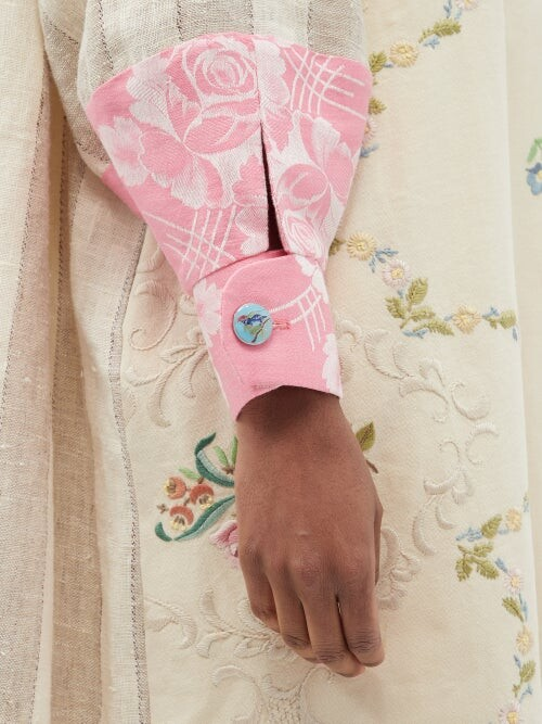 Thumbnail for your product : RIANNA + NINA Kendima Vintage Embroidered Cotton Coat - Multi