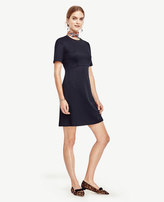 Ann Taylor Petite Textured Fit and Flare Dress