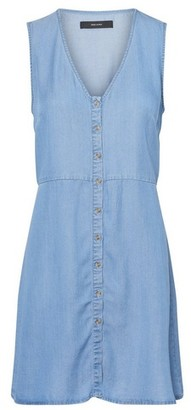 Dorothy Perkins Womens **Vero Moda Blue Button Denim Dress, Blue