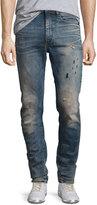 G Star G-Star Type C 3D Super Slim Distressed Jeans, Blue