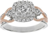 JCPenney MODERN BRIDE Lumastar 7/8 CT. T.W. Diamond 14K Two-Tone Gold Bridal Ring