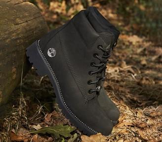 Timberland Slim Premium 6 Inch Boots Black Nubuck Diamond
