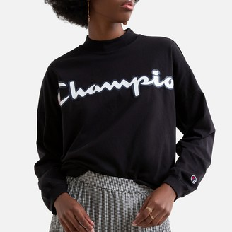 Champion Cotton Crew-Neck T-Shirt with Logo on Front