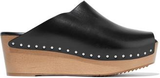 Rick Owens Leather Platform Mules