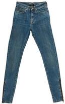 Saint Laurent Mid-Rise Skinny-Leg Jeans