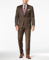 MICHAEL Michael Kors Men's Classic-Fit Brown Birdseye Suit
