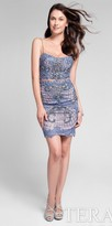 Terani Couture Fully Embellished Mock Two Piece Illusion Cocktail Dress