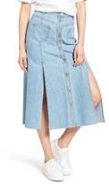 Sjyp Women's Button Front Denim Skirt