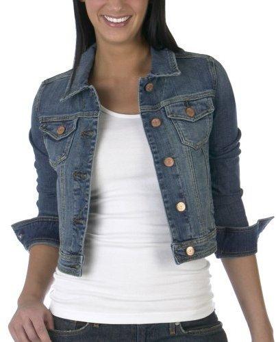 Mossimo Juniors' Denim Jacket - Medium Wash