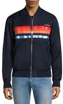 Diesel Slater Striped Bomber Jacket