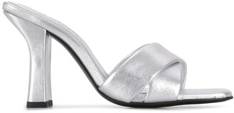 Dorateymur Retox metallic block heel sandals