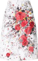 Prada bouquet print skirt
