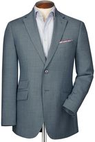 Charles Tyrwhitt Classic Fit Grey Birdseye Wool Wool Jacket Size 44
