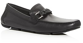 Salvatore Ferragamo Men's Stuart Braided Leather Moc-Toe Drivers - Narrow