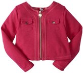 Hello Kitty Cropped Jacket (Toddler/Kids) - Antique Fuchsia-2T