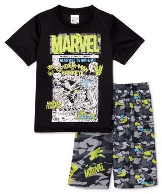 Marvel Boys Short Sleeve T-Shirt & Knit Shorts, 2-Piece Outfit Set, Sizes 4-14