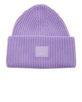 Acne Studios Appliqued Ribbed Wool Beanie
