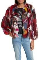 Rebecca Minkoff Women's Rachel Genuine Fox Fur Jacket