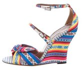 Tabitha Simmons Patterned Wedge Sandals