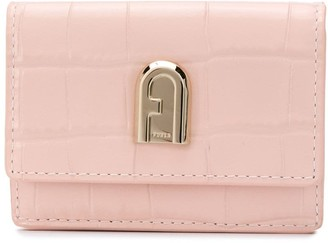Furla Crocodile-Embossed Wallet