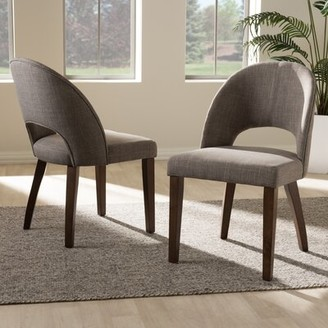 George Oliver Tybalt Mid-Century Upholstered Dining Chair Upholstery Color: Light Gray