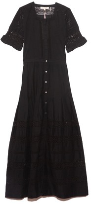 LoveShackFancy Edie Dress in Black