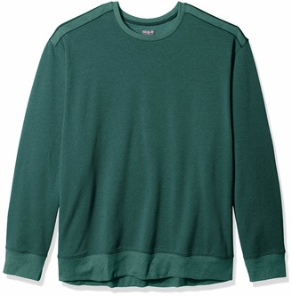 Van Heusen Men's Big & Tall Big and Tall Long Sleeve Flex Fleece Blocked Crewneck Pullover