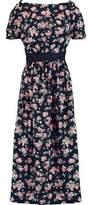 Mother of Pearl Zoe Cutout Floral-Print Silk Midi Dress