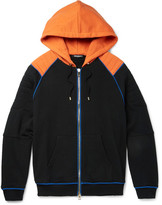Balmain Contrast-trimmed Loopback Cotton-jersey Zip-up Hoodie