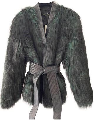 Balmain For H&m Black Faux fur Coats