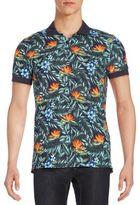 J. Lindeberg Tropical-Print Polo Shirt