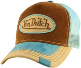 Von Dutch Unisex Corduroy Logo Patch Trucker Hat
