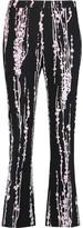 Giambattista Valli Printed crepe skinny pants