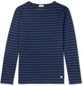 Armor Lux Striped Cotton-jersey T-shirt - Blue