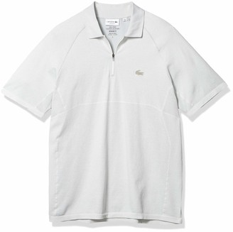 Lacoste Men's Motion Short Sleeve Quick Dry Zip Polo Shirt