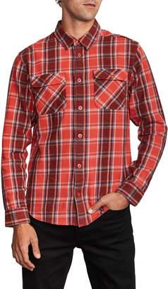 RVCA That'll Work Regular Fit Plaid Flannel Shirt