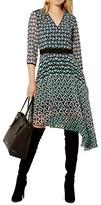 Karen Millen Geometric Print Asymmetric Dress