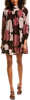 Warm Printed A-Line Dress