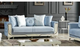 Mayville Sofa Rosdorf Park Fabric: Light Blue