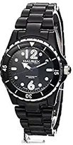 Haurex Italy Women's PN379DN1 Beauty Round Black Dial Rotating Bezel Crystal Watch