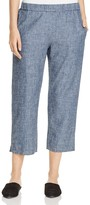 Eileen Fisher Cropped Chambray Pants