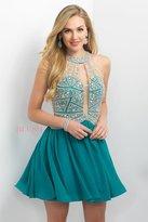 Blush Lingerie Embellished Illusion High Neck A-line Dress 11164