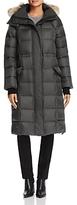 Canada Goose Lunenberg Fur Trim Long Down Coat