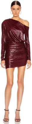 Mason by Michelle Mason One Sleeve Mini Dress in Wine   FWRD